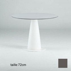Table ronde Hoplà, Slide design gris D69xH72 cm