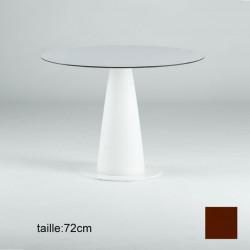 Table ronde Hoplà, Slide design chocolat D69xH72 cm