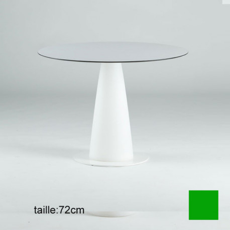 Table ronde Hoplà, Slide design vert D69xH72 cm