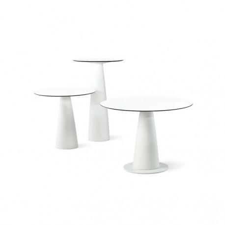 Table ronde Hoplà, Slide design lumineux D69xH72 cm