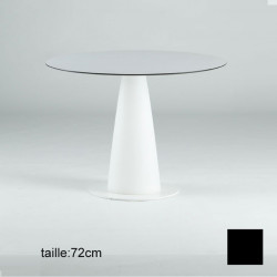 Table ronde Hoplà, Slide design noir D79xH72 cm