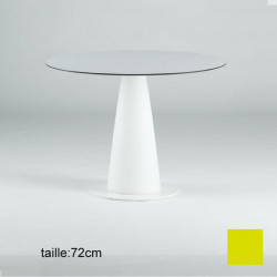 Table ronde Hoplà, Slide design jaune D79xH72 cm