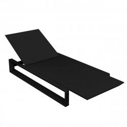 Chaise longue Frame, Vondom noir Mat