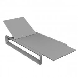 Chaise longue Frame, Vondom acier Mat