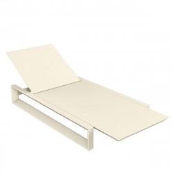 Chaise longue Frame, Vondom ecru Mat