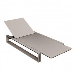 Chaise longue Frame, Vondom taupe Mat