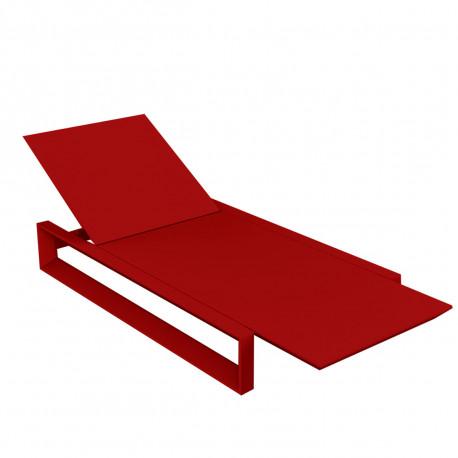 Chaise longue Frame, Vondom rouge Mat