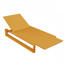 Chaise longue Frame, Vondom orange Mat
