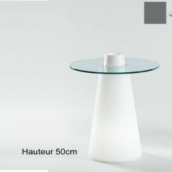 Table Peak 50, Slide Design gris D70xH50 cm