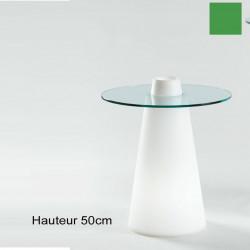 Table Peak 50, Slide Design vert D70xH50 cm
