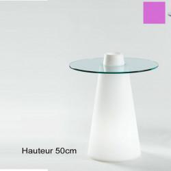 Table Peak 50, Slide Design magenta D70xH50 cm