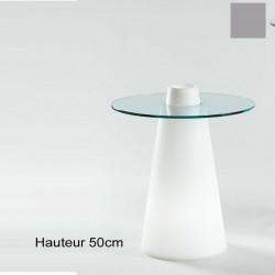 Table Peak 50, Slide Design silver D70xH50 cm
