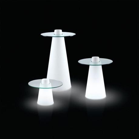 Table Peak 50, Slide Design lumineux D80xH50 cm