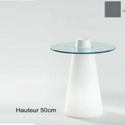 Table Peak 50, Slide Design gris D80xH50 cm