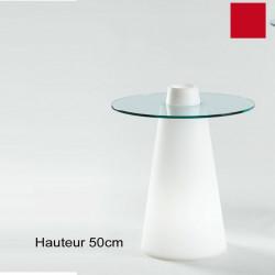 Table Peak 50, Slide Design rouge D80xH50 cm
