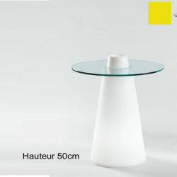 Table Peak 50, Slide Design jaune D80xH50 cm