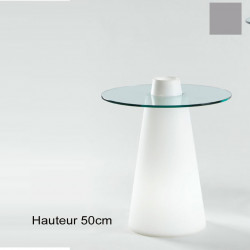 Table Peak 50, Slide Design silver D80xH50 cm