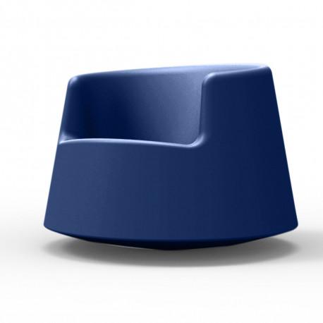 Fauteuil Roulette, Vondom bleu Grand modèle - Cerise sur la Deco
