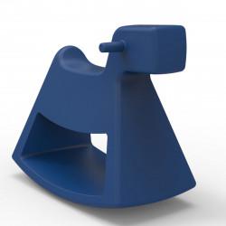 Chaise à bascule Rosinante, Vondom bleu Petit modèle