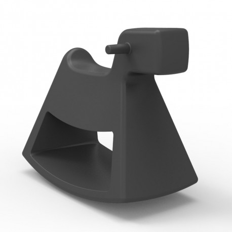 Chaise à bascule Rosinante, Vondom gris anthracite Grand modèle