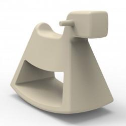 Chaise à bascule Rosinante, Vondom ecru Grand modèle