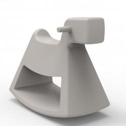 Chaise à bascule Rosinante, Vondom taupe Grand modèle