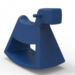 Chaise à bascule Rosinante, Vondom bleu Grand modèle