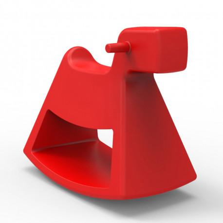 Chaise à bascule Rosinante, Vondom rouge Grand modèle