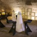 Table de bar Peak, Slide Design blanc D70xH80 cm