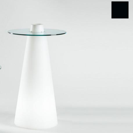 Table de bar Peak, Slide Design noir D70xH80 cm