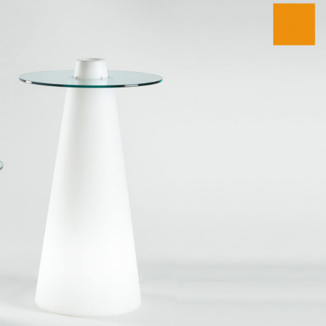Table de bar Peak, Slide Design orange D70xH80 cm
