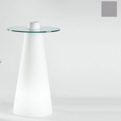 Table de bar Peak, Slide Design silver D70xH80 cm