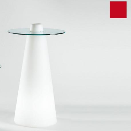 Table de bar Peak, Slide Design rouge D80xH80 cm