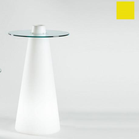 Table de bar Peak, Slide Design jaune D80xH80 cm