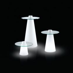 Table de bar Peak, Slide Design lumineux D70xH120 cm