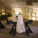 Table de bar Peak, Slide Design blanc D70xH120 cm