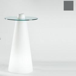 Table de bar Peak, Slide Design gris D70xH120 cm
