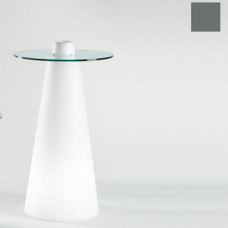 Table de bar Peak, Slide Design gris D80xH120 cm