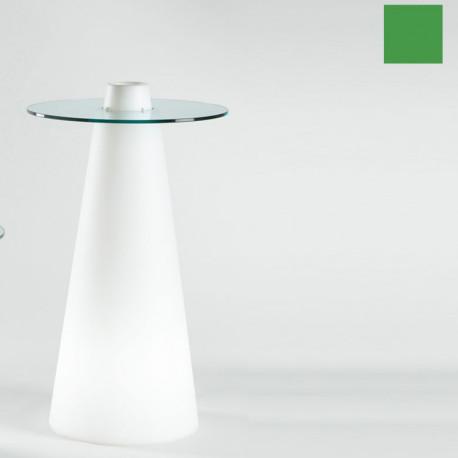Table de bar Peak, Slide Design vert D80xH120 cm