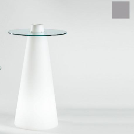 Table de bar Peak, Slide Design silver D80xH120 cm