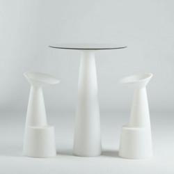 Tabouret de bar design Voilà, Slide Design blanc