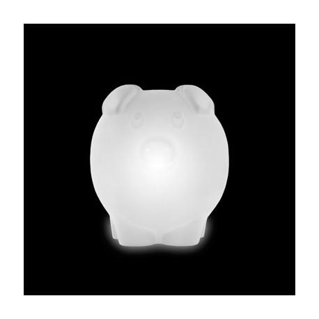 Lampe Peggy, Slide Design blanc Lumineux à ampoule