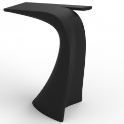 Table haute design Wing, Vondom noir Mat