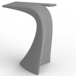 Table haute design Wing, Vondom, gris acier Mat