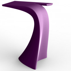 Table haute design Wing, Vondom violet Mat