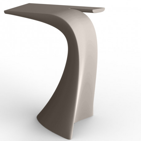 Table haute design Wing, Vondom taupe Mat