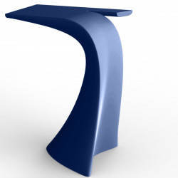 Table haute design Wing, Vondom bleu Mat