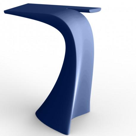 Table haute design Wing, Vondom bleu Mat
