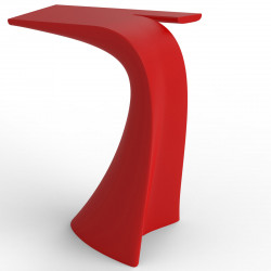 Table haute design Wing, Vondom rouge Mat