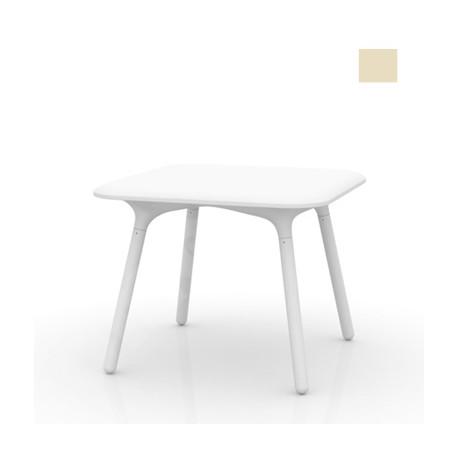 Table Sloo 90, Vondom écru 90x90x72 cm